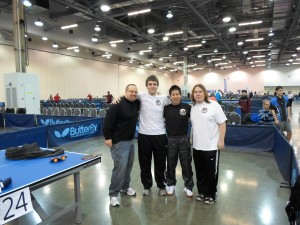 Coach, Gustavo, Alex, and Ronald battling it out in Ohio at the Butterfly Teams event over Thanksgiving weekend