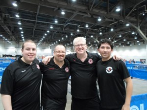 Ronald, Coach, Michael and Chinoz representing El Paso at the 2013 US Open