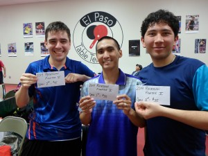 Gustavo Martinez (2nd), Mark Flores (1st), and Chinoz Rojas (3rd)